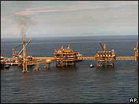 Oil installation in the Gulf of Mexico