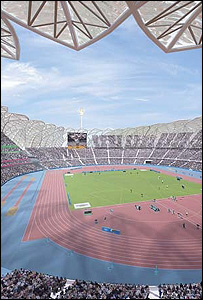 Artist's impression of the 2012 stadium (Image: London 2012)
