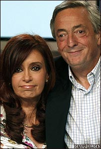 Cristina Fern�ndez de Kirchner y N�stor Kirchner