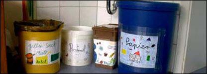 Tachos de basura en Alemania