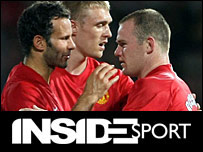Welshman Ryan Giggs, Darren Fletcher of Scotland, and England's Wayne Rooney