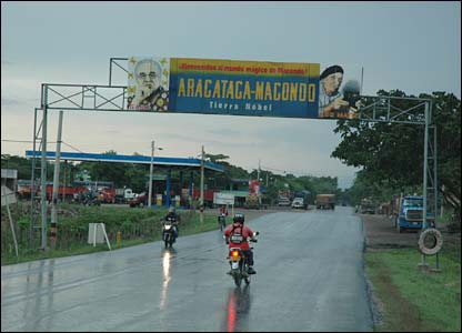 The entrance to Aracataca
