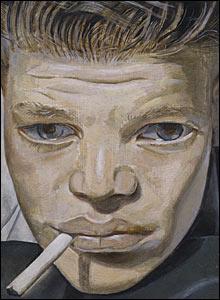 Boy Smoking 1950-1 by Lucian Freud