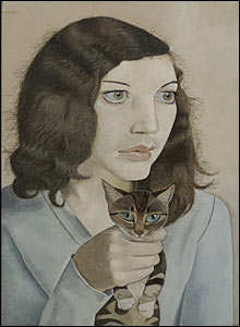 Girl with a Kitten 1947 by Lucian Freud
