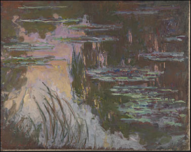 Water-Lilies, Setting Sun, about 1907 by Claude-Oscar Monet