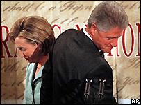 Hillary and Bill Clinton in 1998