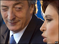 Nestor Kirchner and Cristina Fernandez