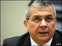 Venezuelan finance minister Rodrigo Cabezas