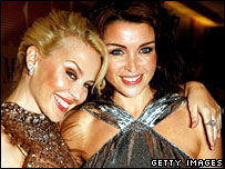 Kylie, pictured left, and Dannii Minogue