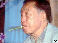Khun Sa in Homong, Burma, in 1995