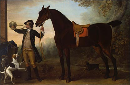 Life-size Horse with Huntsman Blowing a Horn c.1732 by John Wootton