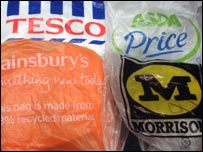 Supermarket carrier bags