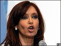 New Argentine President Cristina Fernandez de Kirchner