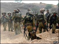 Israeli troops after incursion into Gaza - 29 October