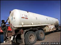 Fuel tanker in Khan Younis