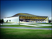Ravenscraig sports facility (Artist's impression)