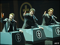 Take That perform in Cologne, Germany