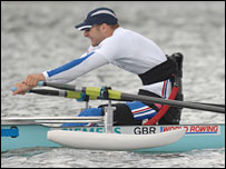 Paralympic hopeful Tom Aggar. Pic: Peter Spurrier/GB Rowing