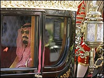King Abdullah in a royal carriage