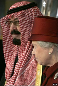 King Abdullah and Queen Elizabeth II