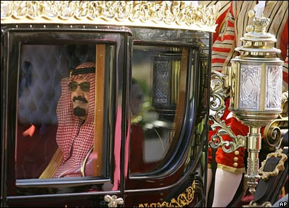 King Abdullah of Saudi Arabia visit