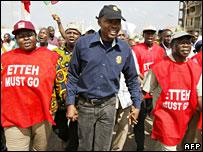 Anti-Etteh demo in Abuja on 30 October 2007