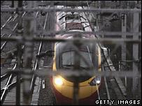 London to Glasgow Virgin Pendolino train