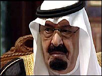 King Abdullah of Saudi Arabia speaking to the BBC