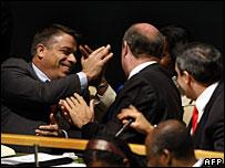 Felipe Perez Roque, Cuban Foreign Minister (L)
