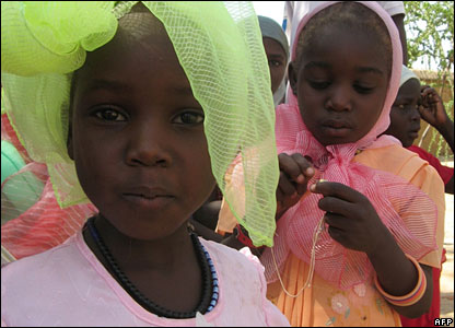 Children at an orphanage in Abeche, Chad, where the children involved in the Zoe's Ark row were taken (27 October)