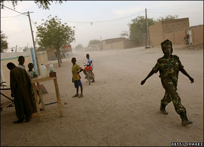 Una calle cualquiera en Abeche, en el este de Chad