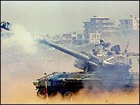 Israeli army tank in Lebanon