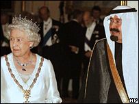 Queen Elizabeth II and King Abdullah