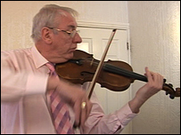 Roy Ashby and his violin