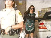 US pop star at a court hearing over her sons last Friday