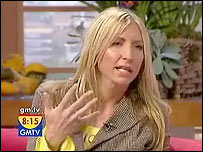 Heather Mills appearing on GMTV
