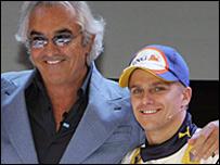 Flavio Briatore and Heikki Kovalainen