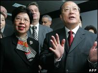 WHO Margaret Chan and Li Changjiang head of China's product-quality watchdog
