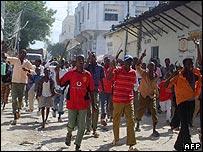 Somalis protest in Mogadishu (28/10/2007)