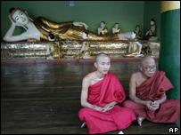 Monjes budistas de Birmania / Foto de archivo