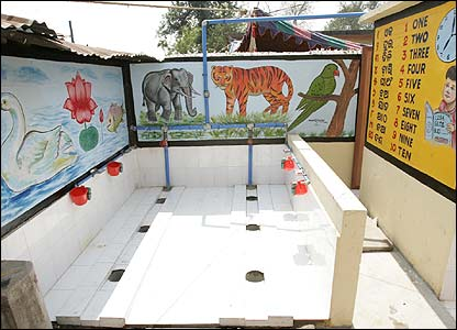 Child friendly latrine in Orissa