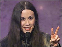 Alanis Morissette, pictured in 2000
