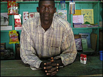 Shopkeeper Suleiman Diallo