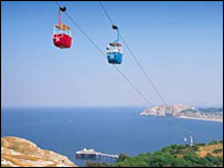 Cable cars over the Great Orme (generic)