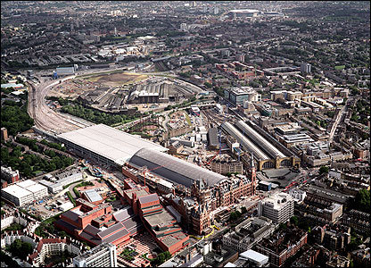 Aerial view of St Pancras (photo: Troika)