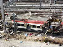 Train wrecked in the 11 March 2004 attacks