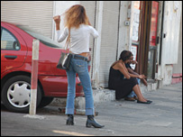 Prostitute in Tel Aviv (photo and copyright: Meged Gozani)