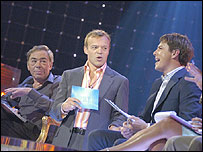 Andrew Lloyd Webber (l) and John Barrowman (r) on the Maria show