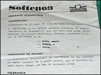 Photo of an instruction leaflet from thalidomide medication