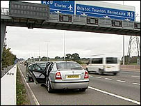 M5 driver stopped by unmarked police car